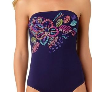 Anne Cole Cactus Flower One Piece Swimsuit Size 6